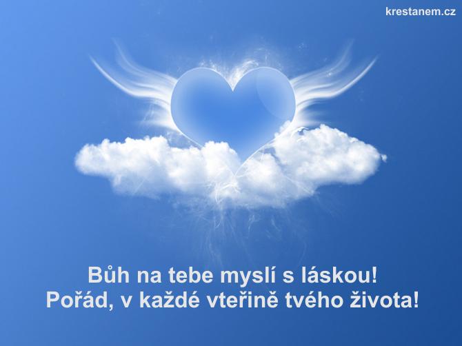 Bůh na tebe myslí s láskou