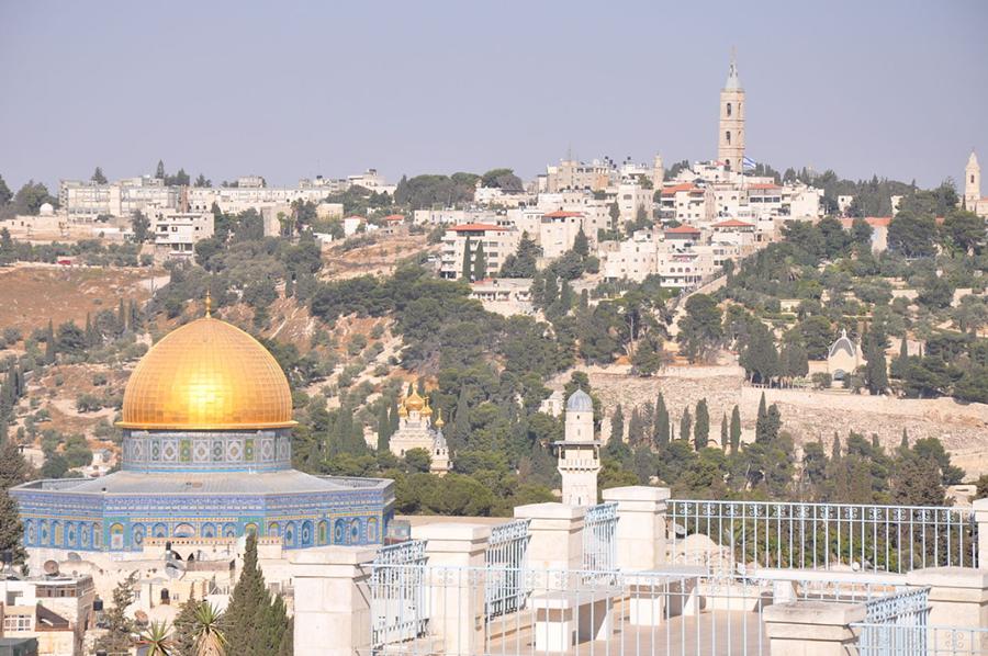 Východní Jeruzalém s Chrámovou horou