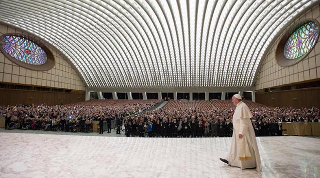 Sala de audiencias del Papa - Posterior